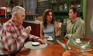 Harold Bishop, Liljana Bishop, David Bishop in Neighbours Episode 4790