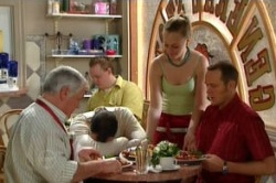 Lou Carpenter, Karl Kennedy, Max Hoyland in Neighbours Episode 4860