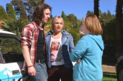 Dylan Timmins, Sky Mangel, Bree Timmins in Neighbours Episode 4878