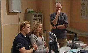 Boyd Hoyland, Janae Timmins, Kim Timmins in Neighbours Episode 4893