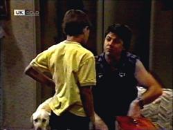 Bouncer, Toby Mangel, Joe Mangel in Neighbours Episode 1406
