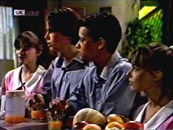 Cody Willis, Todd Landers, Josh Anderson, Melissa Jarrett in Neighbours Episode 1406