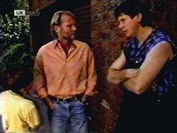 Toby Mangel, Alan Stewart, Joe Mangel in Neighbours Episode 1406