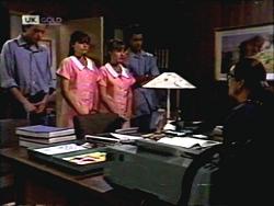 Todd Landers, Cody Willis, Melissa Jarrett, Josh Anderson, Dorothy Burke in Neighbours Episode 1406