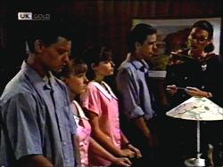 Josh Anderson, Melissa Jarrett, Cody Willis, Todd Landers, Dorothy Burke in Neighbours Episode 1406