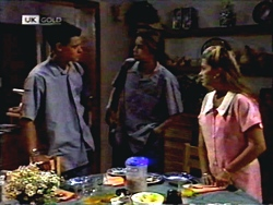 Josh Anderson, Todd Landers, Lucy Robinson in Neighbours Episode 1407