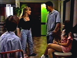 Todd Landers, Melissa Jarrett, Josh Anderson, Cody Willis in Neighbours Episode 1407