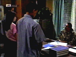 Todd Landers, Cody Willis, Josh Anderson, Dorothy Burke in Neighbours Episode 1407