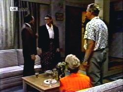 Colin Burke, Dorothy Burke, Jim Robinson, Helen Daniels in Neighbours Episode 1408