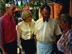 Jim Robinson, Madge Bishop, Harold Bishop, Helen Daniels in Neighbours Episode 1410