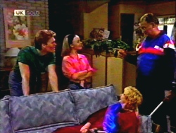 Adam Willis, Gemma Ramsay, Harold Bishop, Madge Bishop in Neighbours Episode 1410