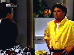Paul Robinson, Caroline Alessi, Phil Hoffman in Neighbours Episode 1411