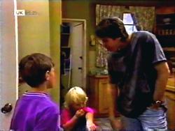 Toby Mangel, Sky Bishop, Joe Mangel in Neighbours Episode 1411