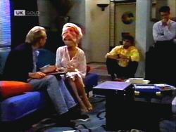 Alan Stewart, Caroline Alessi, Phil Hoffman, Paul Robinson in Neighbours Episode 1411