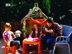 Toby Mangel, Bouncer, Sky Bishop, Joe Mangel in Neighbours Episode 1412