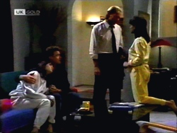 Christina Robinson, Paul Robinson, Alan Stewart, Caroline Alessi in Neighbours Episode 1412