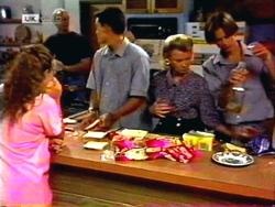 Lucy Robinson, Jim Robinson, Josh Anderson, Helen Daniels, Todd Landers in Neighbours Episode 1413