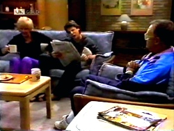 Madge Bishop, Joe Mangel, Harold Bishop in Neighbours Episode 1414