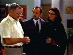 Harold Bishop, Colin Burke, Dorothy Burke in Neighbours Episode 1414