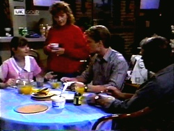 Cody Willis, Pam Willis, Adam Willis, Doug Willis in Neighbours Episode 1414