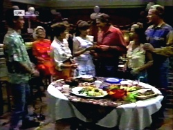 Josh Anderson, Helen Daniels, Pam Willis, Cody Willis, Doug Willis, Lucy Robinson, Jim Robinson in Neighbours Episode 1416