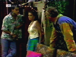 Josh Anderson, Lucy Robinson, Jim Robinson in Neighbours Episode 1416