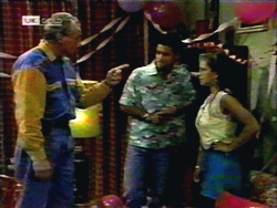 Jim Robinson, Josh Anderson, Lucy Robinson in Neighbours Episode 1417