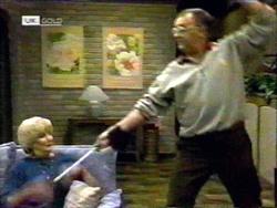 Madge Bishop, Harold Bishop in Neighbours Episode 1417