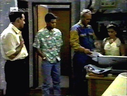 Glen Donnelly, Josh Anderson, Jim Robinson, Lucy Robinson in Neighbours Episode 1417