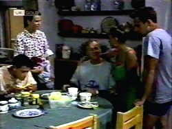 Josh Anderson, Todd Landers, Jim Robinson, Lucy Robinson, Glen Donnelly in Neighbours Episode 1417