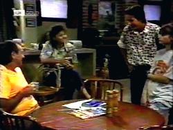 Doug Willis, Pam Willis, Todd Landers, Cody Willis in Neighbours Episode 1417