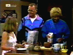 Gemma Ramsay, Harold Bishop, Madge Bishop in Neighbours Episode 1418