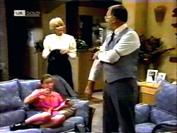 Gemma Ramsay, Madge Bishop, Harold Bishop in Neighbours Episode 1418