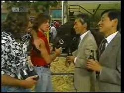 Wayne Duncan, Troy Duncan, Mr Takahashi, Mr Kitamura in Neighbours Episode 1925