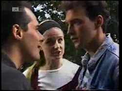 Russell Butler, Phoebe Bright, Stephen Gottlieb in Neighbours Episode 1925