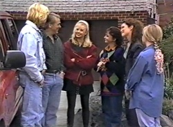 Brad Willis, Doug Willis, Annalise Hartman, Pam Willis, Gaby Willis, Lauren Turner in Neighbours Episode 1975