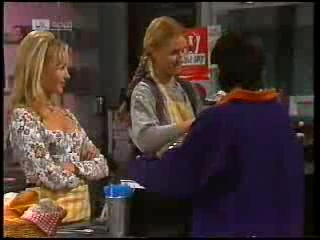 Annalise Hartman, Phoebe Bright, Rick Alessi in Neighbours Episode 1995