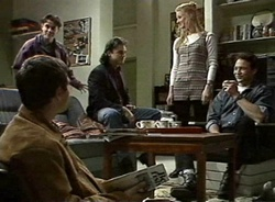 Mark Gottlieb, Rick Alessi, Wayne Duncan, Phoebe Bright, Stephen Gottlieb in Neighbours Episode 2001