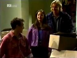 Stephen Gottlieb, Beth Brennan, Brad Willis in Neighbours Episode 2003