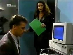 Paul Robinson, Gaby Willis in Neighbours Episode 2003