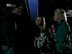 David Kazalian, Lucy Robinson, Helen Daniels in Neighbours Episode 2003
