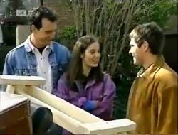 Stephen Gottlieb, Beth Brennan, Mark Gottlieb in Neighbours Episode 2003