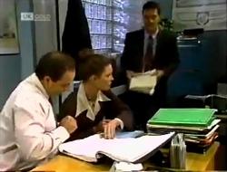 Philip Martin, Gaby Willis, Paul Robinson in Neighbours Episode 2003
