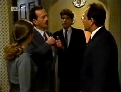 Julie Robinson, Detective Morley, Philip Martin in Neighbours Episode 2003