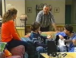 Hannah Martin, Paul McClain, Harold Bishop, Mike Burns in Neighbours Episode 2998