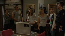 Paige Novak, Tyler Brennan, Amy Williams, Steph Scully, Charlie Hoyland, Mark Brennan in Neighbours Episode 7444
