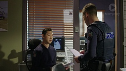 Constable Miles Doughty, Mark Brennan in Neighbours Episode 7446