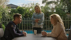 Mark Brennan, Steph Scully, Belinda Bell in Neighbours Episode 7446