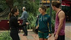 Paige Novak, Dominique Du Toit, Tyler Brennan in Neighbours Episode 7447