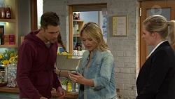 Mark Brennan, Steph Scully, Ellen Crabb in Neighbours Episode 7447